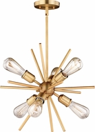 Vaxcel P0238 Estelle Contemporary Natural Brass Mini Lighting Chandelier