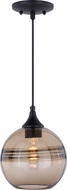 Vaxcel P0275 Milano Modern Oil Rubbed Bronze Mini Pendant Hanging Light