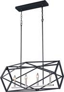 Vaxcel P0281 Hailey Modern Black Graphite & Satin Nickel Island Light Fixture