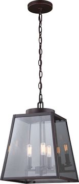 Vaxcel P0289 Grant Burnished Bronze Foyer Light Fixture