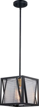 Vaxcel P0293 Oslo Contemporary Black with Natural Brass Mini Pendant Lighting Fixture