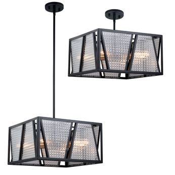 Vaxcel P0294 Oslo Modern Black with Natural Brass Hanging Pendant Lighting / Home Ceiling Lighting