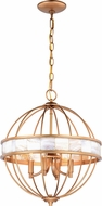 Vaxcel P0298 Anna Satin Gold Lighting Pendant