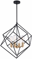 Vaxcel P0307 Rad Modern Black and Natural Brass Pendant Light