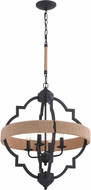 Vaxcel P0308 Beaumont Textured Gray Lighting Pendant