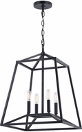 Vaxcel P0310 Hayes Contemporary Black Foyer Light Fixture