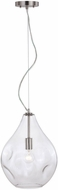Vaxcel P0315 Ainslie Contemporary Satin Nickel 12  Mini Hanging Lamp