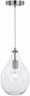 Vaxcel P0316 Ainslie Contemporary Satin Nickel 8  Mini Hanging Light