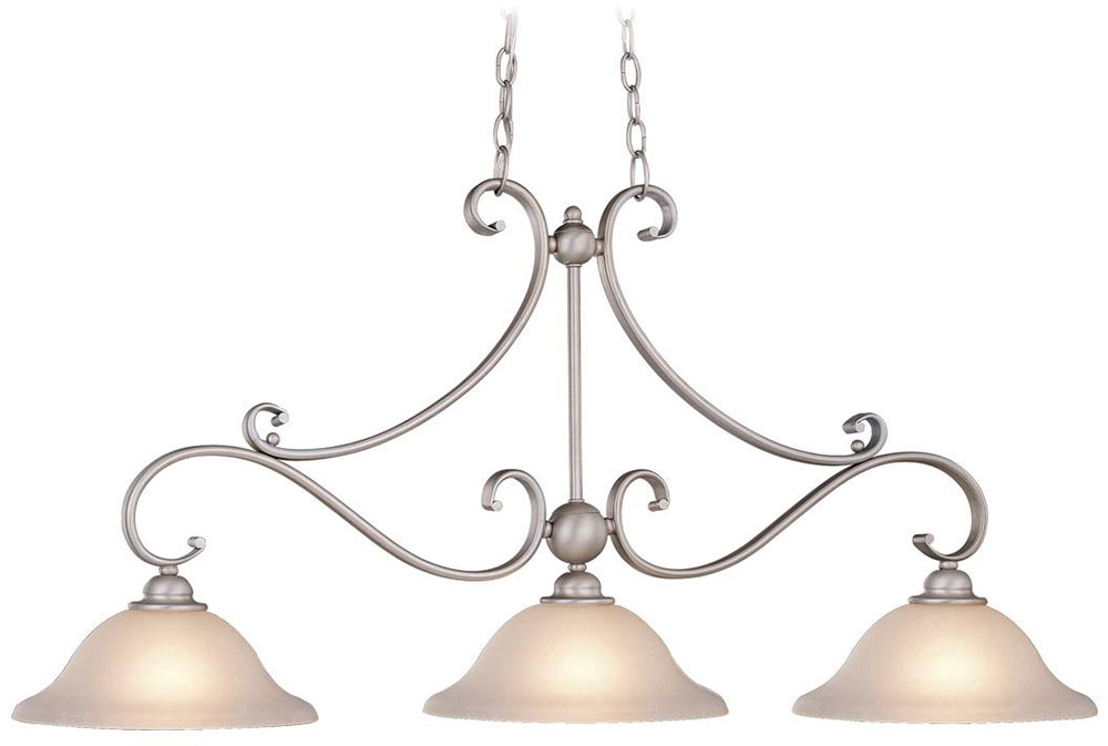 Vaxcel PDBN Monrovia Brushed Nickel Kitchen Island Light - Brushed nickel kitchen light fixtures
