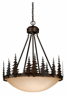 Vaxcel PD55524BBZ Yosemite Rustic Burnished Bronze Finish 24  Wide Hanging Pendant Lighting