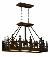 Vaxcel PD55536BBZ Yosemite Country Burnished Bronze Finish 25  Tall Kitchen Island Light Fixture