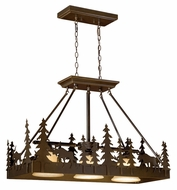 Vaxcel PD55636BBZ Yellowstone Country Burnished Bronze Finish 25  Tall Island Lighting