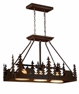 Vaxcel PD55736BBZ Bozeman Country Burnished Bronze Finish 25  Tall Kitchen Island Lighting