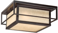 Vaxcel RB-OFU120EB Robie Craftsman Espresso Bronze Finish 12  Wide Outdoor Flush Ceiling Light Fixture