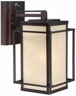 Vaxcel RB-OWD070EB Robie Craftsman Espresso Bronze Finish 14  Tall Exterior Wall Mounted Lamp