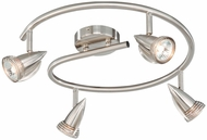 Vaxcel SP34118SN Spotlight Modern Satin Nickel Finish 6  Tall Halogen Track Lighting Kits