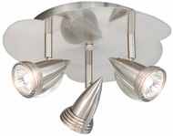 Vaxcel SP34124SN Spotlight Contemporary Satin Nickel Finish 11.38  Wide Halogen Overhead Light Fixture