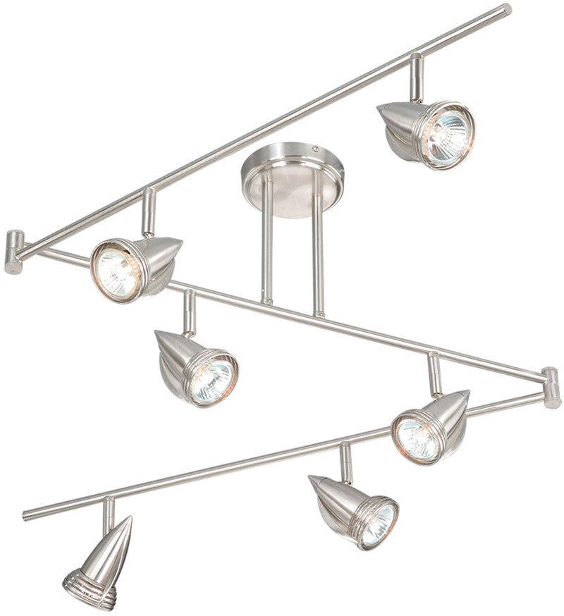 Vaxcel Sp34166sn Spotlight Modern Satin Nickel Finish 12 Tall