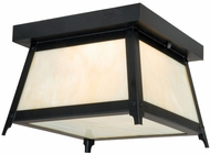 Vaxcel T0021 Prairieview Oil Rubbed Bronze Finish 9 Wide Outdoor Ceiling Lighting Fixture