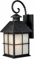 Vaxcel T0027 Savannah Traditional Gold Stone Finish 10  Wide Outdoor Wall Sconce Light