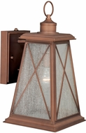 Vaxcel T0062 Mackinac Traditional Antique Red Copper Finish 18  Tall Exterior Wall Sconce Lighting
