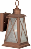 Vaxcel T0063 Mackinac Traditional Antique Red Copper Finish 6.875  Wide Outdoor Wall Light Fixture