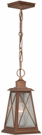 Vaxcel T0064 Mackinac Traditional Antique Red Copper Finish 14.25 Tall Exterior Mini Pendant Hanging Light