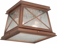 Vaxcel T0065 Mackinac Traditional Antique Red Copper Finish 9 Wide Outdoor Flush Lighting