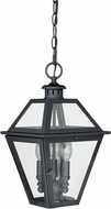Vaxcel T0081 Nottingham Textured Black Exterior Drop Lighting Fixture