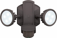 Vaxcel T0098 Lambda Modern Bronze LED Exterior Security Lighting
