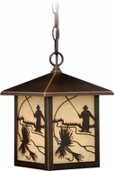 Vaxcel T0112 Mayfly Burnished Bronze Exterior Pendant Lighting Fixture