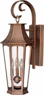 Vaxcel T0120 Preston Traditional Brushed Copper Exterior Wall Sconce Lighting