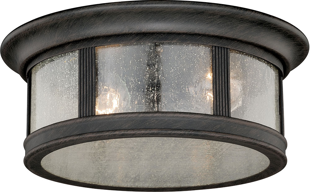 Vaxcel T0155 Hanover Traditional Brushed Iron Outdoor Ceiling Light Loading Zoom