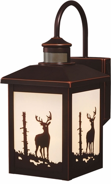 Vaxcel T0182 Bryce Mission Burnished Bronze Exterior Motion Sensor Wall Lamp w/ Photocell