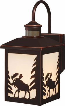 Vaxcel T0184 Yellowstone Mission Burnished Bronze Exterior Motion Sensor Sconce Lighting w/ Photocell