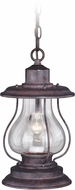 Vaxcel T0219 Dockside Weathered Patina Outdoor Ceiling Pendant Light