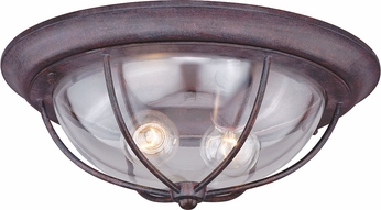 Vaxcel T0220 Dockside Weathered Patina Exterior Flush Mount Lighting ...