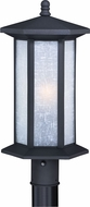 Vaxcel T0224 Halsted Textured Black Outdoor Post Lamp