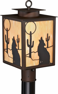 Vaxcel T0228 Calexico Burnished Bronze Outdoor Lamp Post Light