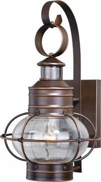 Vaxcel T0249 Chatham Contemporary Burnished Bronze Outdoor Motion Sensor Wall Sconce