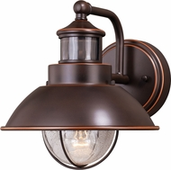 Vaxcel T0252 Harwich Dualux Burnished Bronze Outdoor Motion Sensor w/ Photocell Light Sconce