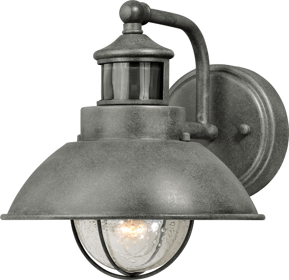 Vaxcel T0253 Harwich Dualux Textured Gray Exterior Motion Detector W Photocell Lighting Sconce Vxl