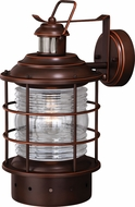 Vaxcel T0257 Hyannis Dualux Burnished Bronze Exterior Motion Detector Lighting Wall Sconce