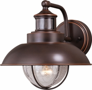 Vaxcel T0263 Harwich Dualux Burnished Bronze Exterior Motion Detector w/ Photocell Wall Light Sconce