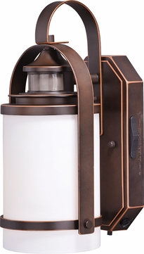 Vaxcel T0269 Weston Dualux Burnished Bronze Outdoor Motion Sensor w/ Photocell Wall Sconce Light