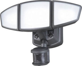 Vaxcel T0271 Omega Dualux Modern Charcoal LED Exterior Motion Detector w/ Photocell Security Lighting