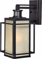 Vaxcel T0296 Hyde Park Dualux Espresso Bronze Exterior Motion Sensor w/ Photocell Wall Mounted Lamp