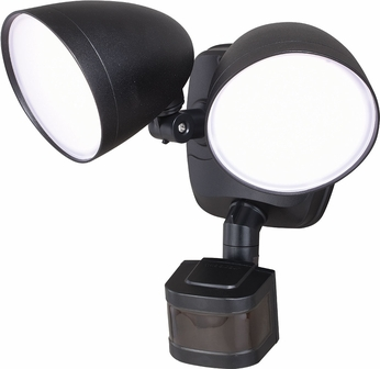 Vaxcel T0299 Tau Dualux Contemporary Black LED Outdoor Motion Detector w/ Photocell Residential Security Lighting