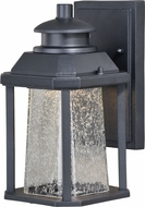 Vaxcel T0308 Freeport Modern Textured Black LED Exterior Wall Light Sconce