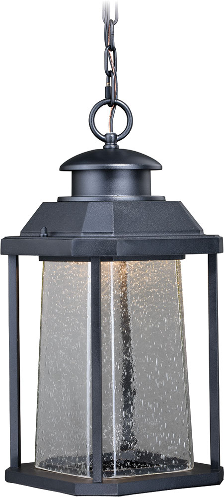 Vaxcel T0311 Freeport Contemporary Textured Black Led Outdoor Lighting Pendant
